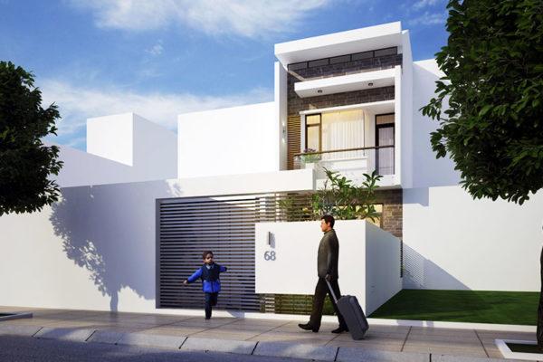 Thiết kế kiến trúc nhà phố 4m x 20m