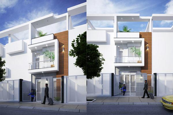 Thiết kế nhà phố 4m x 18m