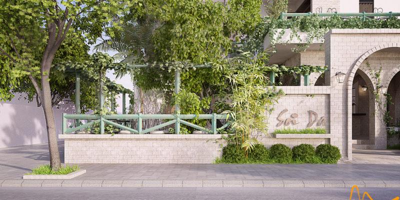 Thiết kế cafe sân vườn - Sỏi đá