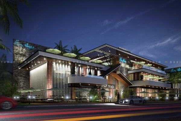 Thiết kế kiến trúc nhà hàng cafe - Phố Việt