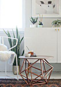 Pouf Side Table 3 212x300 - 10 Mẹo Thiết Kế Phòng Khách Đẹp