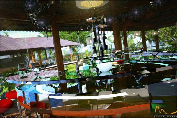 Villadesol 7 600x400 - THIẾT KẾ KIẾN TRÚC - NỘI THẤT NHÀ HÀNG CAFE VILLA DESOL