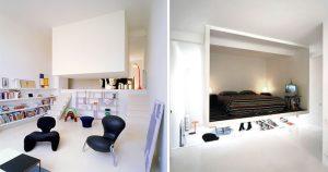 bedroom sculptural element hanging box studio 300x158 - TƯ VẤN NỘI THẤT CĂN HỘ DIỆN TÍCH NHỎ DƯỚI 65M2