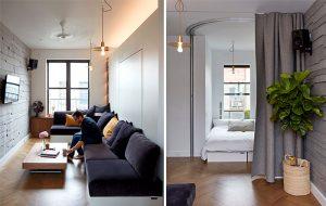 insert murphy bed in the wall small apt ideas 300x190 - TƯ VẤN NỘI THẤT CĂN HỘ DIỆN TÍCH NHỎ DƯỚI 65M2