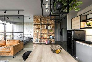 modern studio apartment interior design ideas hang things 300x202 - TƯ VẤN NỘI THẤT CĂN HỘ DIỆN TÍCH NHỎ DƯỚI 65M2