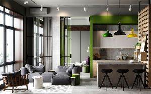 tiny apartment design ideas folding glass walls 300x187 - TƯ VẤN NỘI THẤT CĂN HỘ DIỆN TÍCH NHỎ DƯỚI 65M2