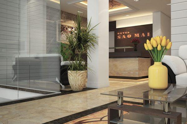 Thiết kế cải tạo sảnh khách sạn