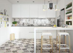 exotic kitchen tiles 300x219 - CĂN HỘ NHỎ SÁNG BỪNG VỚI PHONG CÁCH BẮC ÂU