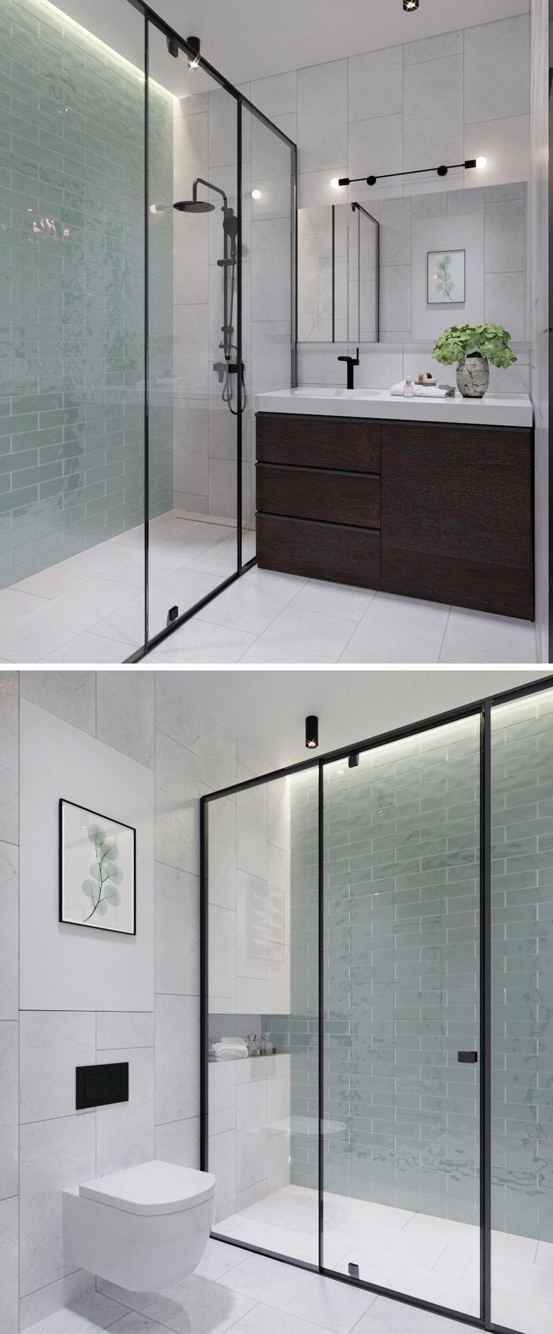 modern bathroom black frame glass shower surround 170517 926 06 1 - CĂN HỘ RỘNG HƠN VỚI KHUNG KÍNH ĐEN THAY CHO VÁCH NGĂN