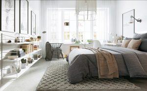 warm nordic bedroom design 300x185 - CĂN HỘ NHỎ SÁNG BỪNG VỚI PHONG CÁCH BẮC ÂU
