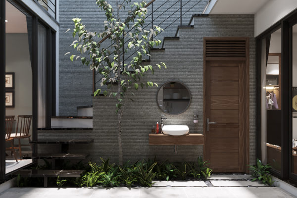 Thiết kế sân trong - Nhà phố