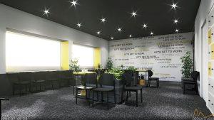 02 EVENT AREA 4 300x169 - THIẾT KẾ THI CÔNG CẢI TẠO NỘI THẤT WORKBAR CENTER - GOOGLE