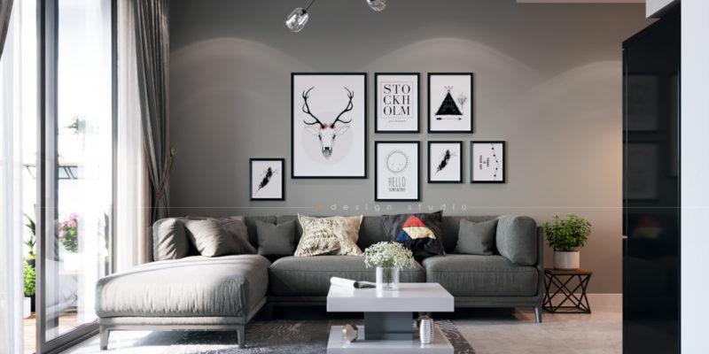 Nội thất phòng khách hiện đại - căn hộ Millenium