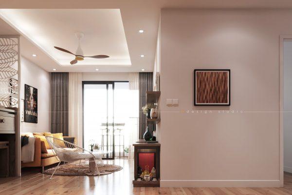 THIẾT KẾ THI CÔNG NỘI THẤT CĂN HỘ 77 M2 – H&M HOUSE