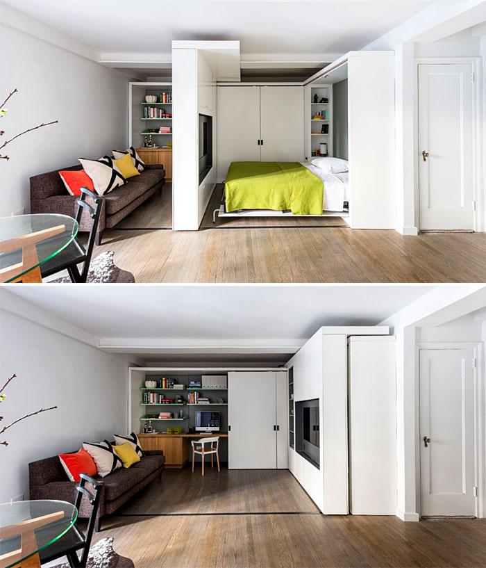 50 Small Studio Apartment 11 - 50 Ý TƯỞNG THIẾT KẾ CĂN HỘ STUDIO NHỎ 2019 (P1)