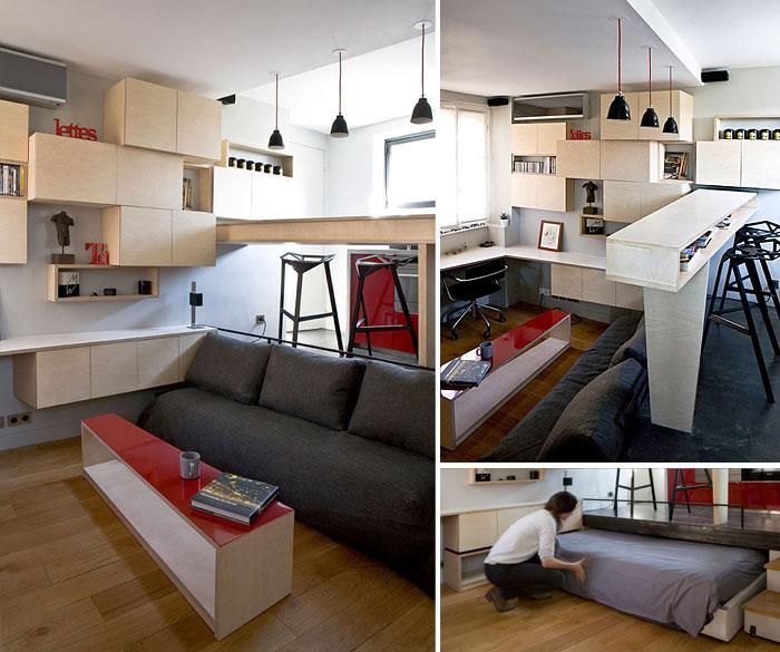 50 Small Studio Apartment 14 - 50 Ý TƯỞNG THIẾT KẾ CĂN HỘ STUDIO NHỎ 2019 (P2)