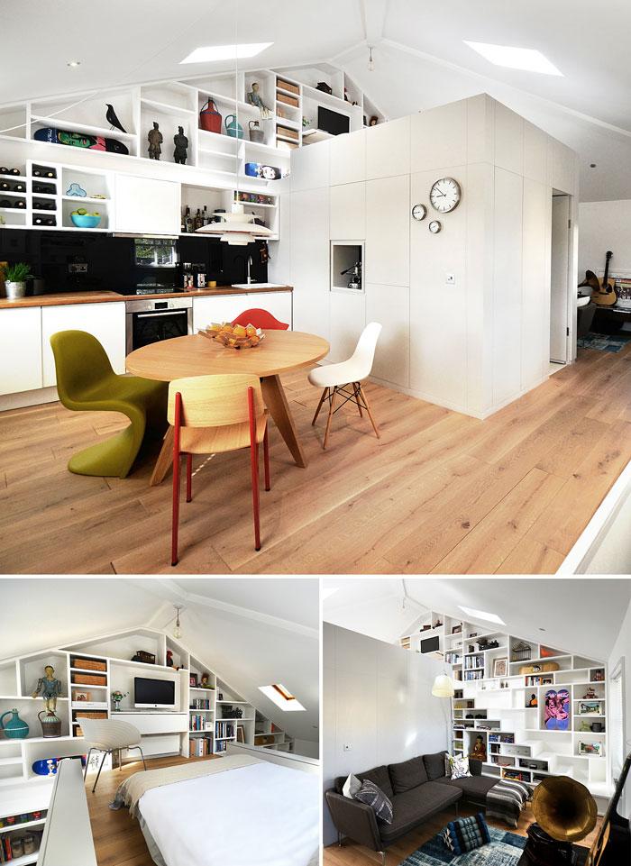 50 Small Studio Apartment 28 - 50 Ý TƯỞNG THIẾT KẾ CĂN HỘ STUDIO NHỎ 2019 (P2)