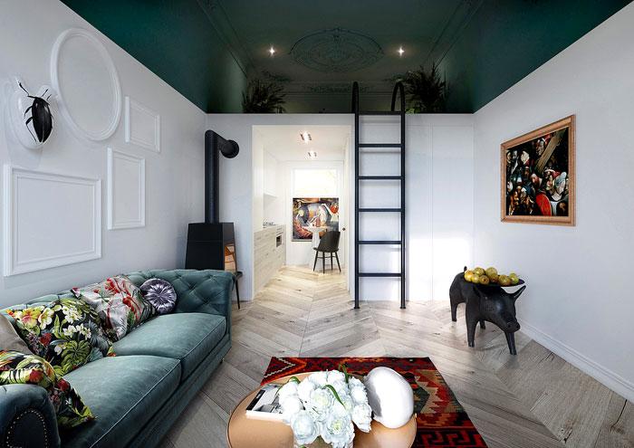 50 Small Studio Apartment 3 - 50 Ý TƯỞNG THIẾT KẾ CĂN HỘ STUDIO NHỎ 2019 (P1)