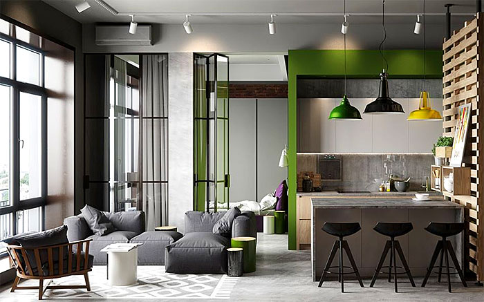 50 Small Studio Apartment 5 - 50 Ý TƯỞNG THIẾT KẾ CĂN HỘ STUDIO NHỎ 2019 (P1)