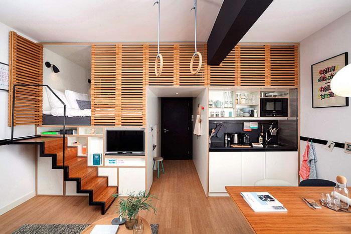 50 Small Studio Apartment 6 - 50 Ý TƯỞNG THIẾT KẾ CĂN HỘ STUDIO NHỎ 2019 (P1)