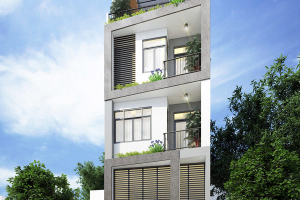 Thiết kế nhà phố 5m x 17m