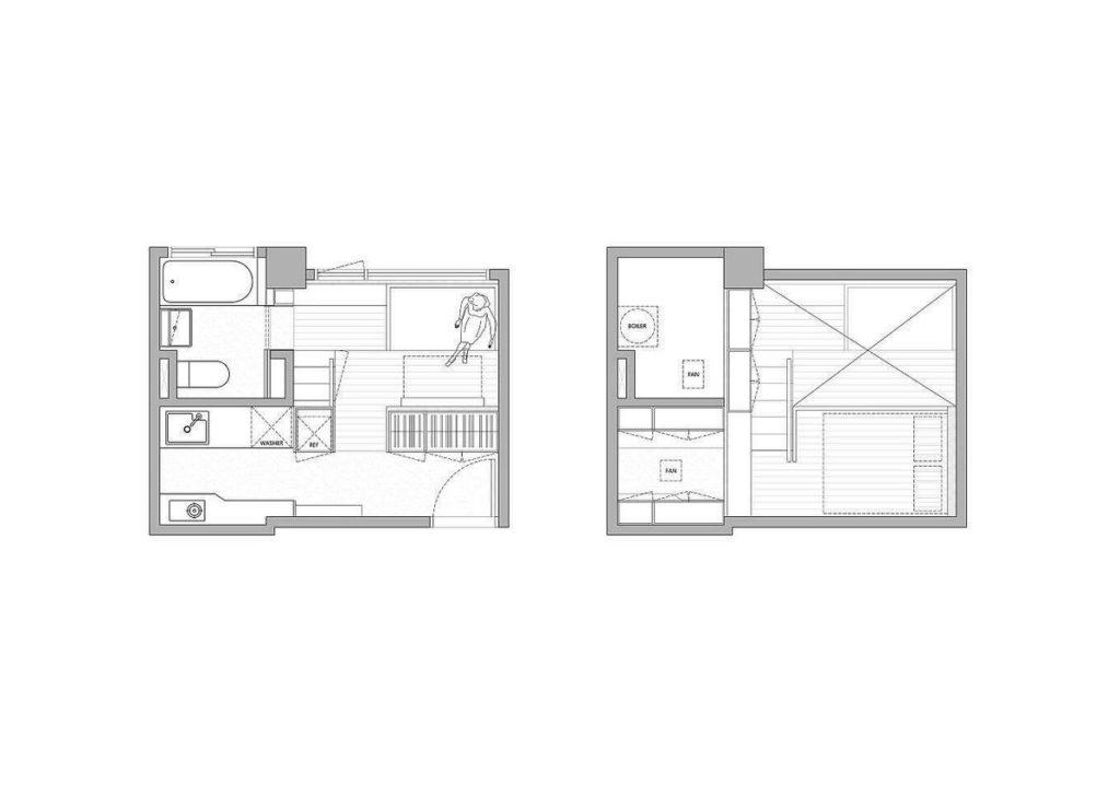 design small apartment 11 2 1024x718 - KHÁM PHÁ CĂN HỘ 22M2 TIỆN NGHI Ở ĐÀI BẮC