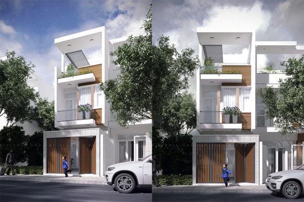 thiết kế nhà phố 4x17m
