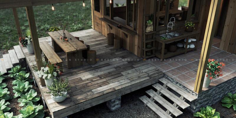 Nhà gỗ - Dốc mơ